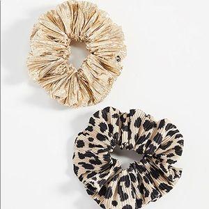 Loeffler Randall Scrunchie Set Leopard/Gold
